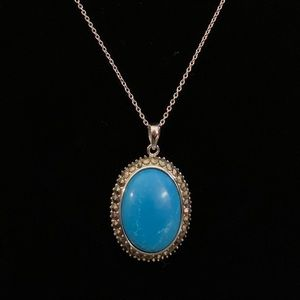 DW Sterling Silver Turquoise Pendant